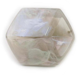 Cube Marble Pink Shiny