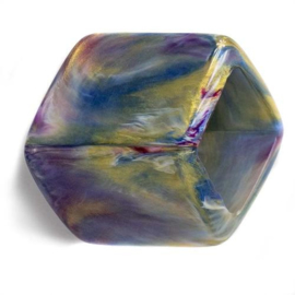 Cube Marble Purple gold