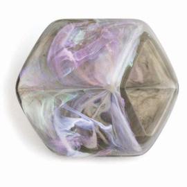 Cube Marble Grey Shiny