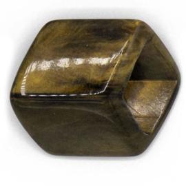 Cube Brass Shiny