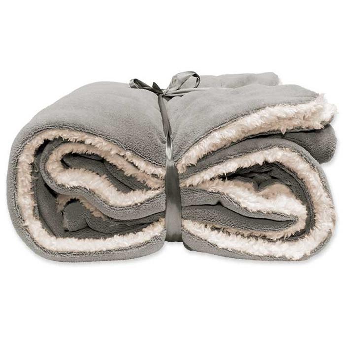 Vlies deken 150 x 200 cm Grey.