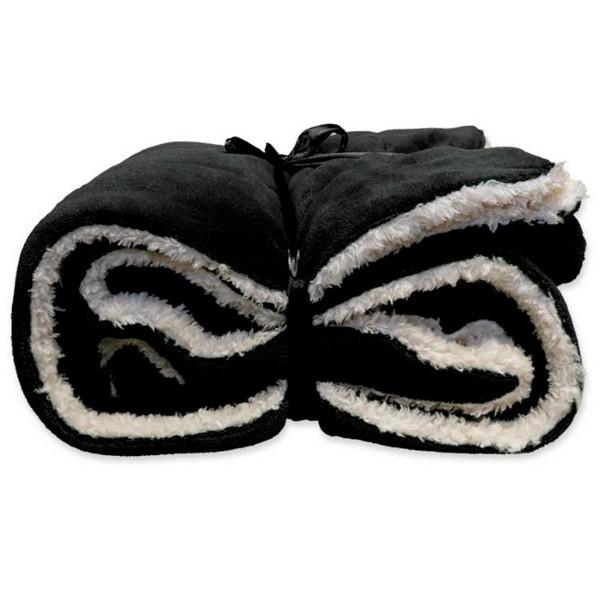 Vlies deken 150 x 200 cm Black.