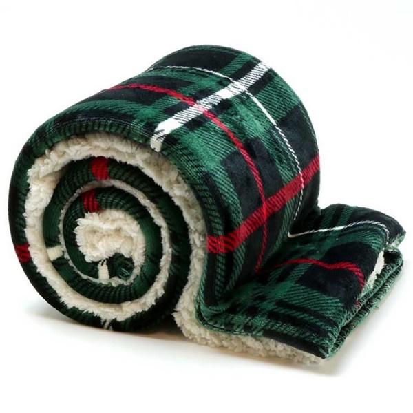 Vlies deken 150 x 200 cm Green.