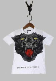 T-shirt -  Paris Couture wit
