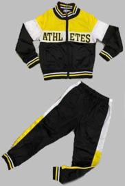 Trainingspak -  Athletes zwart geel