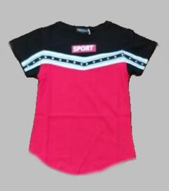 T-shirt -  SJK SPORT rood