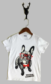T-shirt -  Bulldog wit