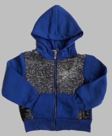Sweatvest - Tijger kobaltblauw