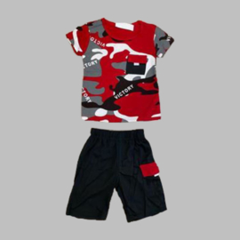 Twee delige jogg set - Army red