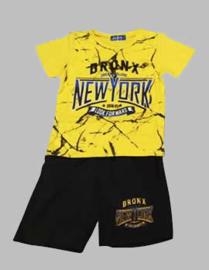 Twee delige jogg set - New York geel