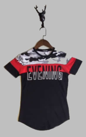 T-shirt -  EVENING zwart