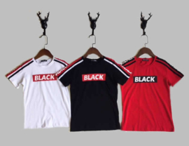 T-shirt -  BLACK rood