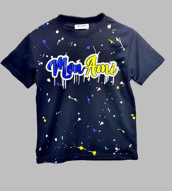 T-shirt - Moni Ami zwart