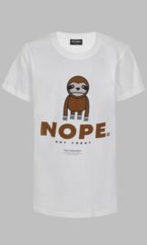 T-shirt - D-XEL Nope white