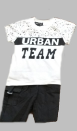 Twee delige jogg set - Urban Team black and white