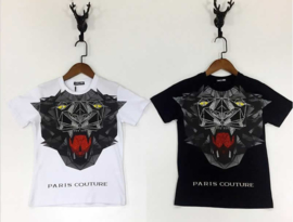 T-shirt -  Paris Couture zwart