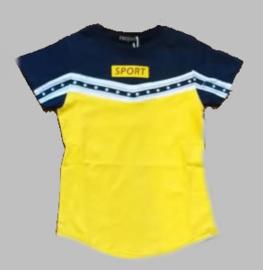T-shirt -  SJK SPORT geel
