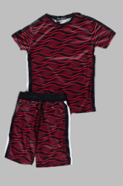 Twee delige set - Black and red