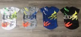 T-shirt - New York grijs