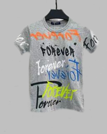 T-shirt - Foverever grijs