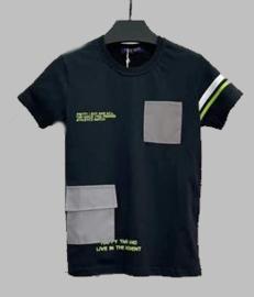 T-shirt - Bag zwart