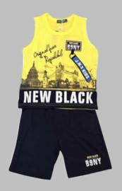 Twee delige jogg set - New Black yellow