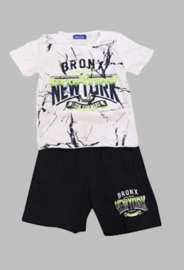 Twee delige jogg set - New York wit