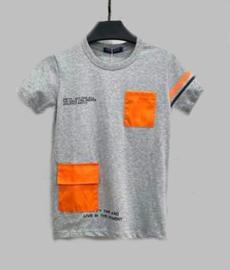 T-shirt - Bag grijs