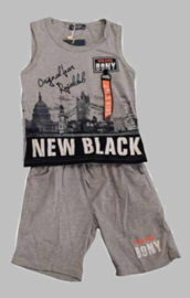 Twee delige jogg set - New Black grey