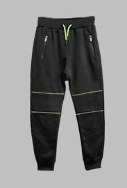 Jogg Pant - Freeboy fluor stripe black