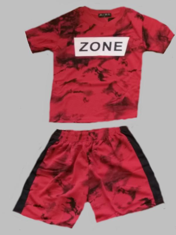 Twee delige jogg set - Zone rood