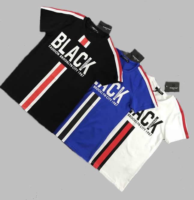 T-shirt - Black wit