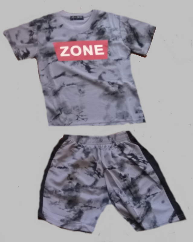 Twee delige jogg set - Zone zwart grijs