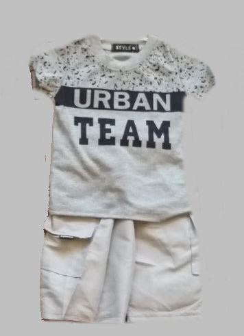 Twee delige jogg set - Urban Team grey