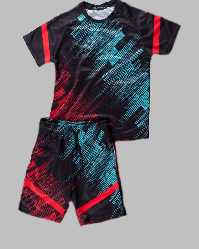 Twee delige set - Sports red blue