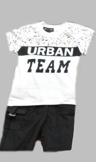 Twee delige jogg set - Urban Team black and white