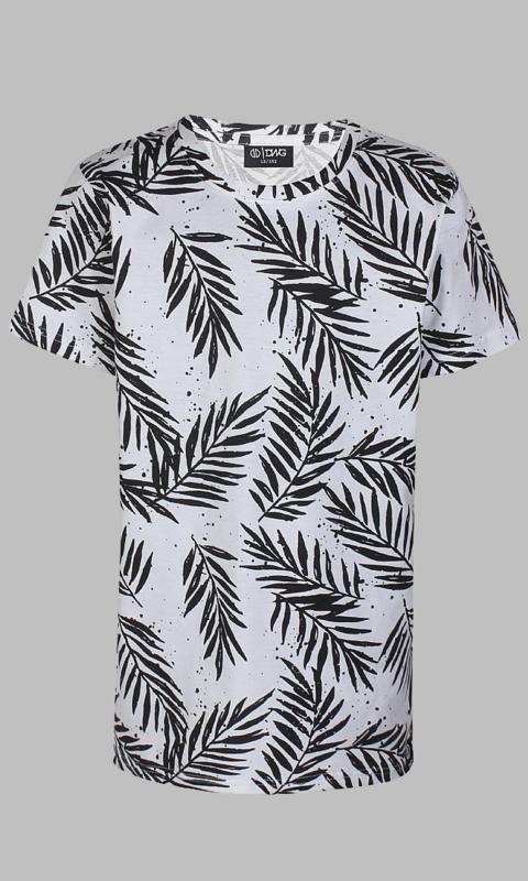 T-shirt - D-XEL Palm white