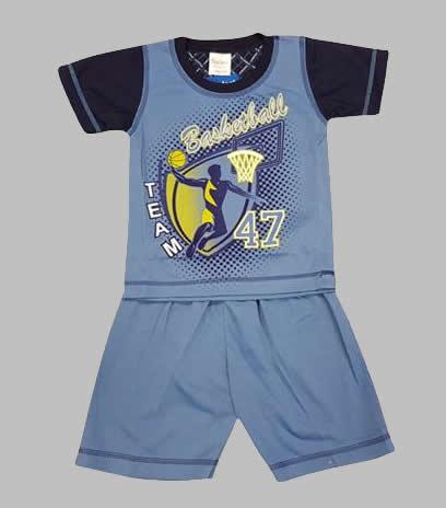 Pyjama - Pyjama korte broek blauw