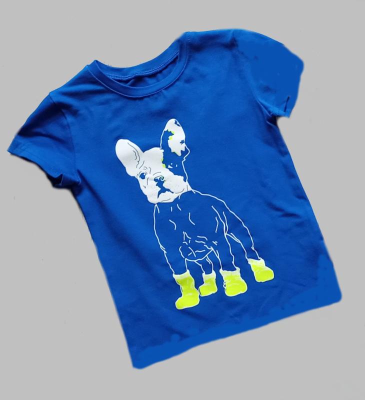 T-shirt - Dog blue