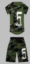 Twee delige set - New York 5 army groen