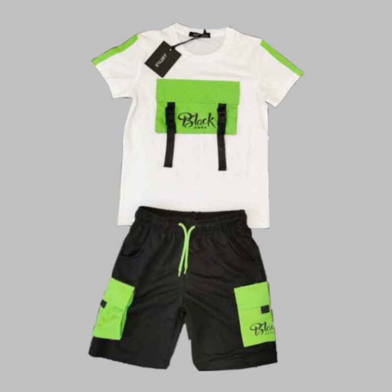Twee delige jogg set - Juli white and green