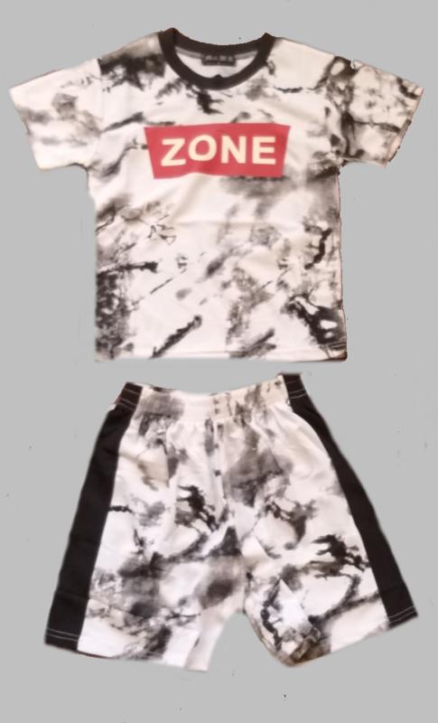 Twee delige jogg set - Zone zwart wit
