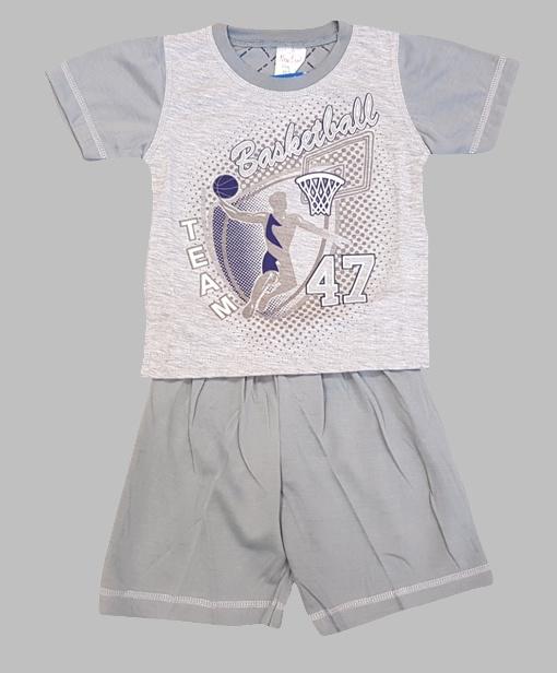 Pjyama - Pyjama korte broek grijs
