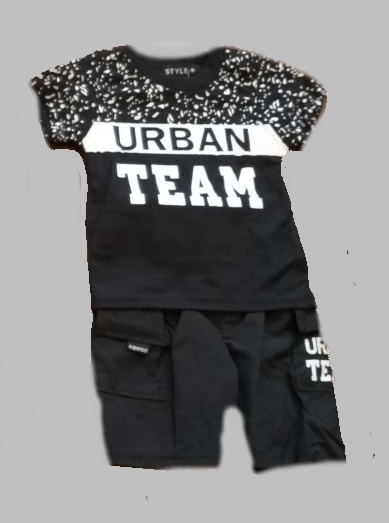 Twee delige jogg set - Urban Team black