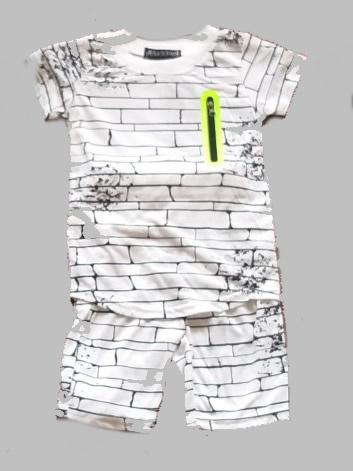 Twee delige jogg set - Bricks white