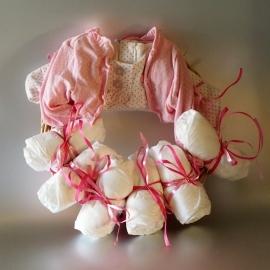 Luierkrans newborn roze