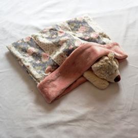 Slaapzak met vintage bloemenprint