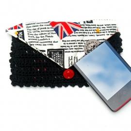 Telefoonhoesje zwart, rood en punk