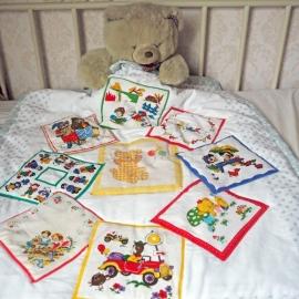 Babydeken met vintage kinderzakdoekjes
