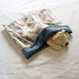 Slaapzak Engelse bloemen met blauw